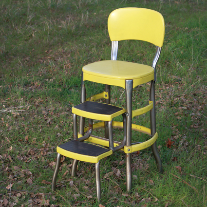 Yellow Chair with Step Stool & Yellow Chair with Step Stool - Forever Vintage Rentals islam-shia.org