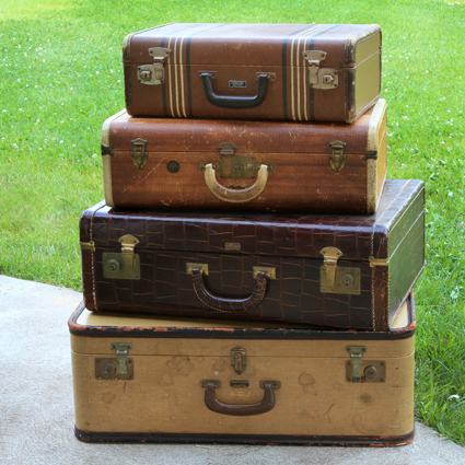 Vintage Wedding Rentals, Antique Suitcase Rentals, California ...