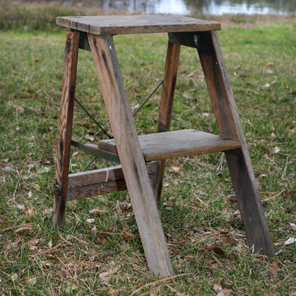 2 Step Ladder Wood
